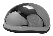 Bullet Beanie Novelty Helmet Black Chrome