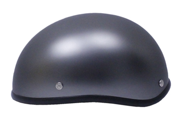 Bullet Beanie Novelty Biker Helmet Titanium Matte Finish Click for Large View