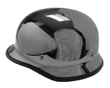 German Novelty Helmet Black Chrome