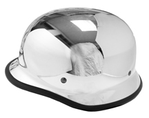 German Novelty Helmet Chrome