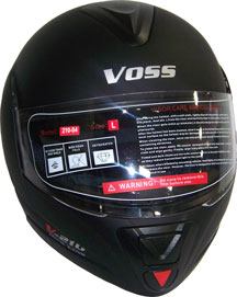 DOT Voss 210 Full Face Helmet with Retractable Face Jaw